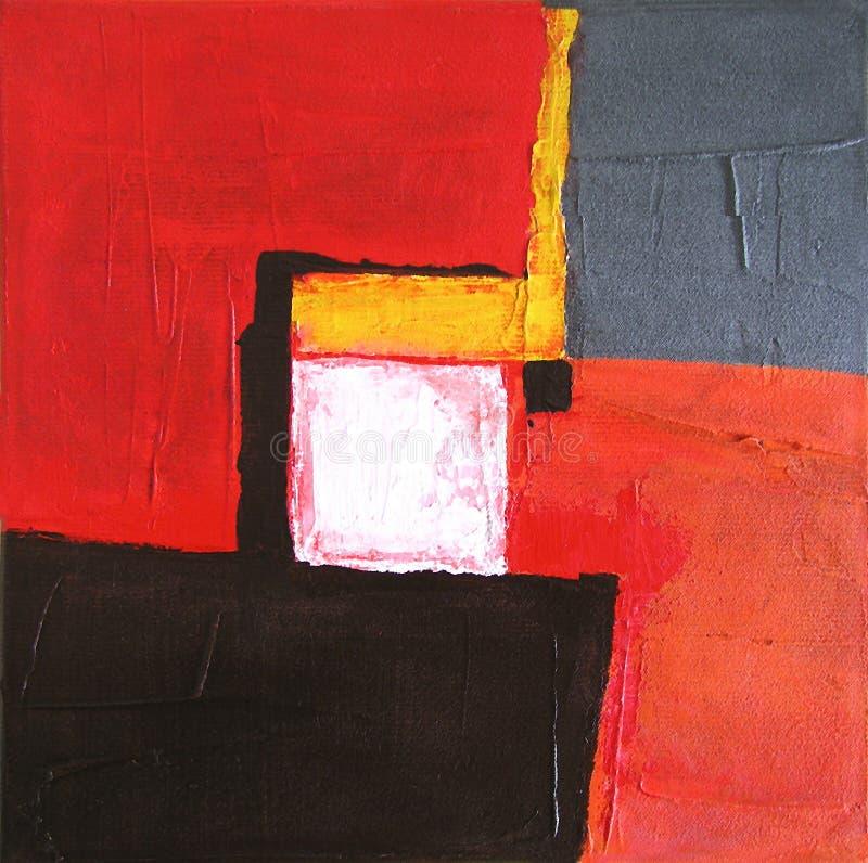 Arte abstrata moderna - pintura - fundo ilustração stock
