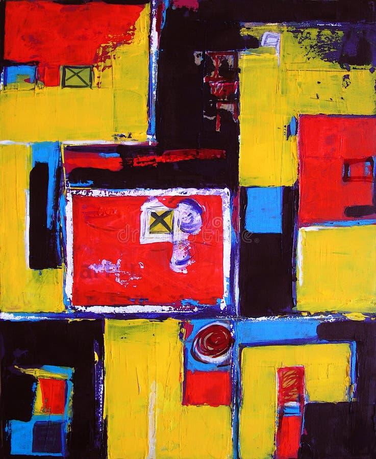Arte abstrata moderna - pintura - fundo ilustração royalty free