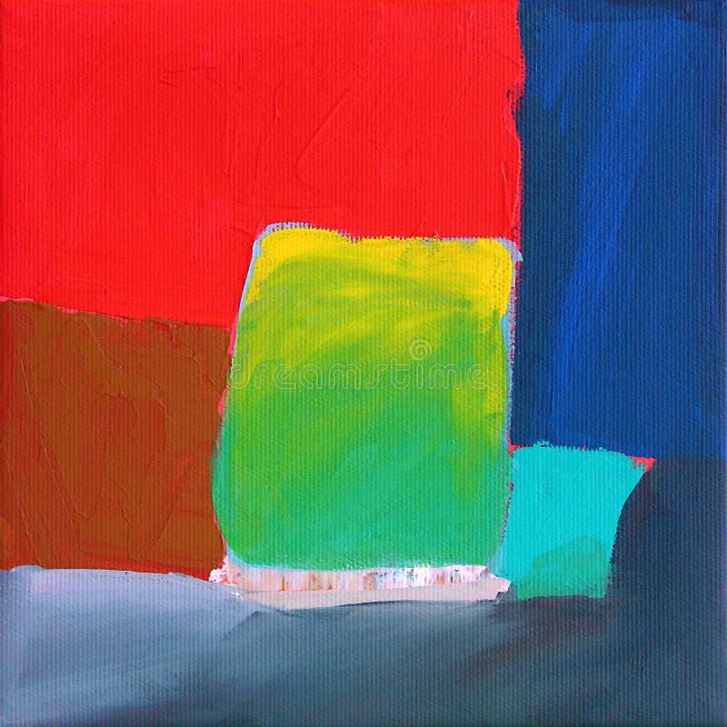 Arte abstrata moderna - pintura - fundo ilustração do vetor