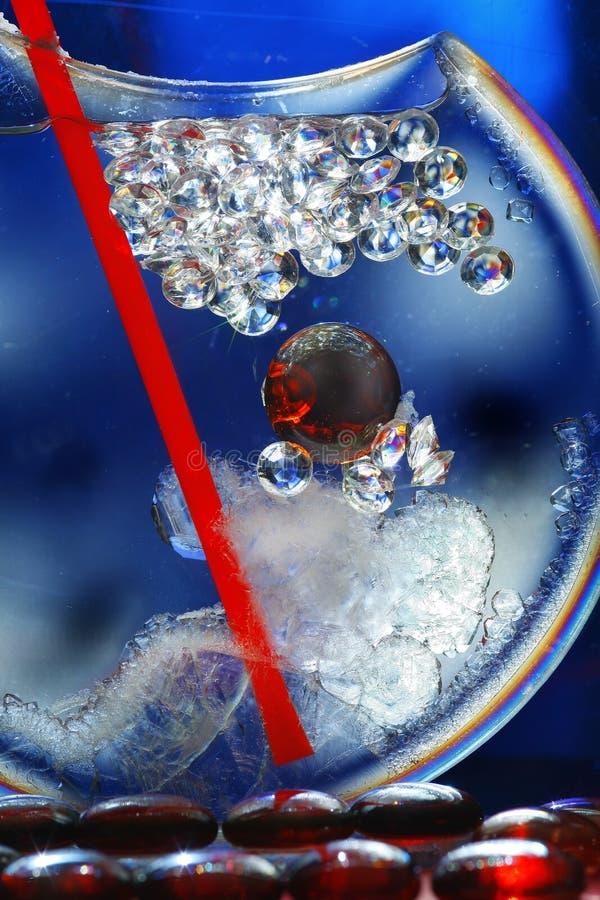Arte abstrata - vidro & cristal fotografia de stock royalty free