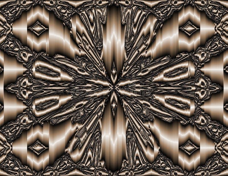 Arte abstrato: broche da borboleta do cobre 3D - versão: Todo o cobre ilustração do vetor