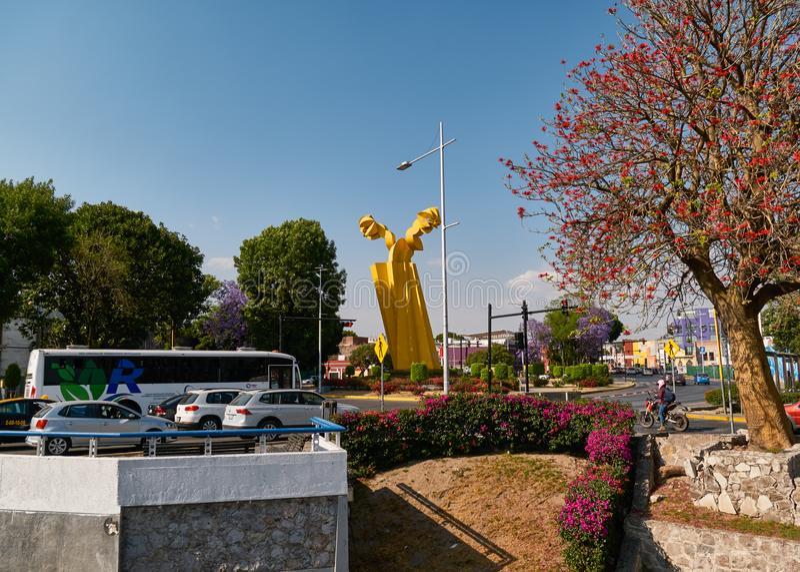 Arte abstrato do guardião Angel Monument fotos de stock royalty free