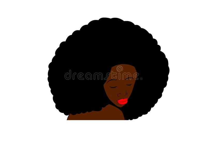 Arte africana dell'illustrazione di clipart del fronte della donna illustrazione vettoriale