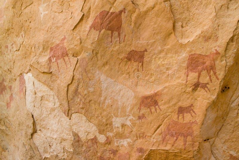 Arte africana della roccia immagini stock