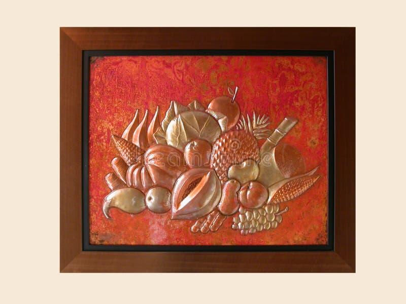 Arte africano en un marco foto de archivo. Imagen de anaranjado ...