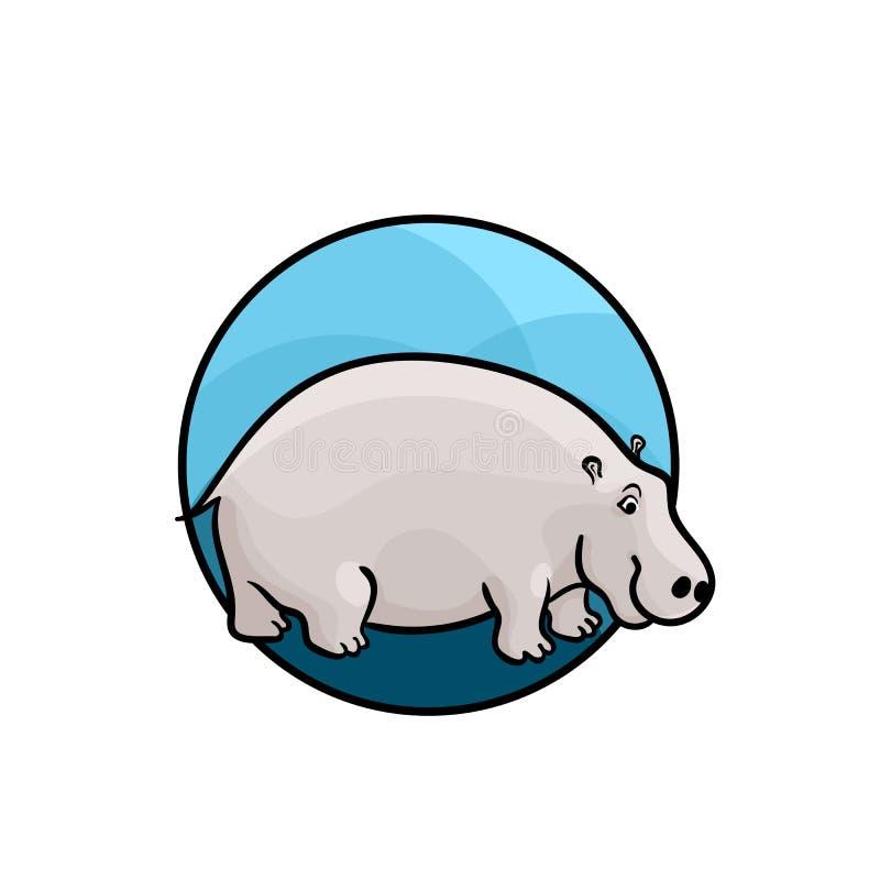 Arte animal, estilo bonito dos desenhos animados ilustração do vetor
