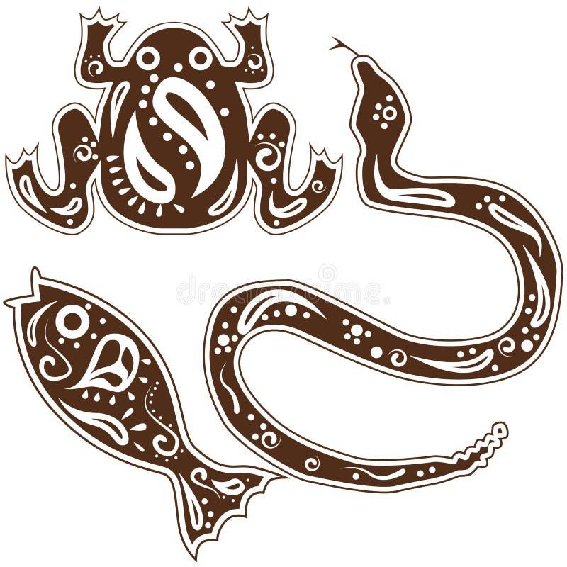 Arte animal tribal ilustración del vector
