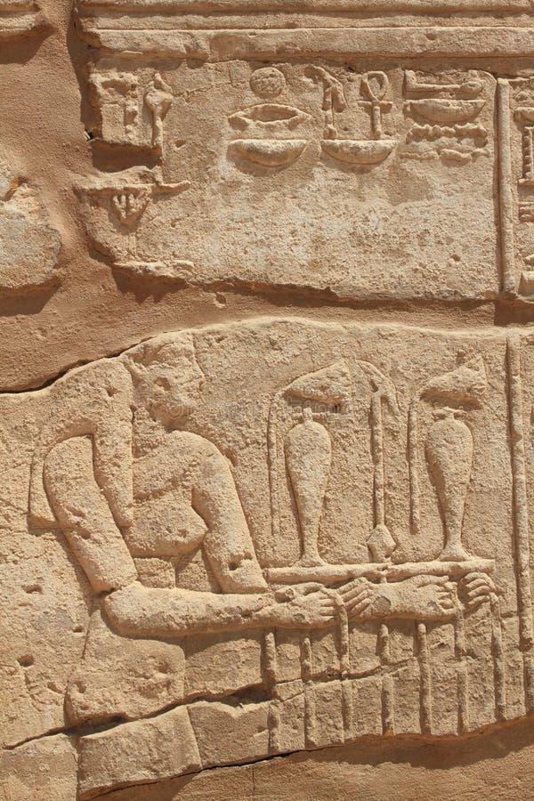 Arte antiguo de la pared en Egipto fotos de archivo
