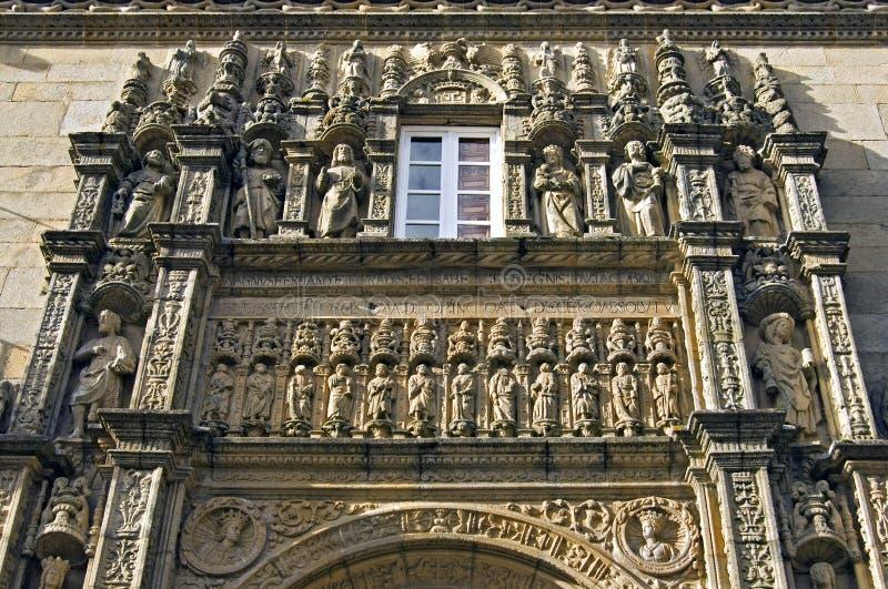 Arte antiguo del escultor en Parador de Compostela foto de archivo