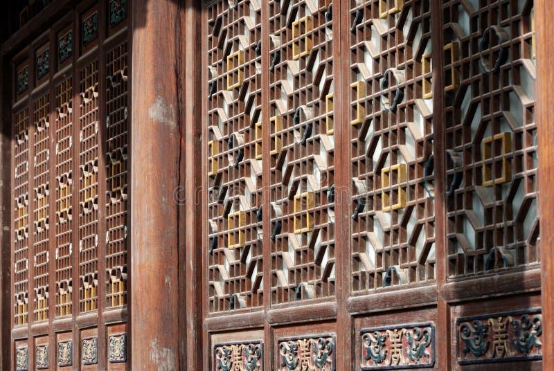 Arte arquitectónico tradicional chino imagen de archivo libre de regalías