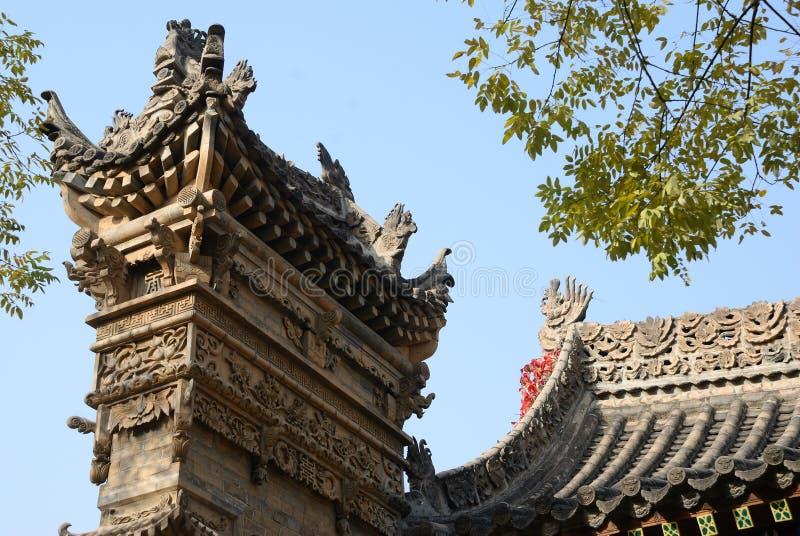 Arte arquitectónico tradicional chino fotos de archivo