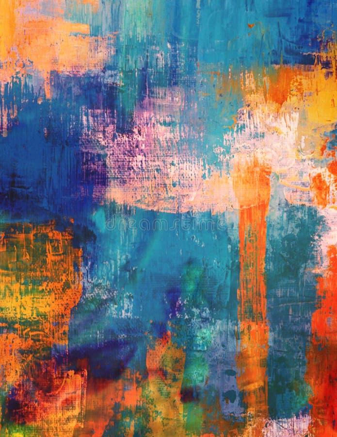 Arte artística Textured abstrata pintada do Grunge ilustração royalty free