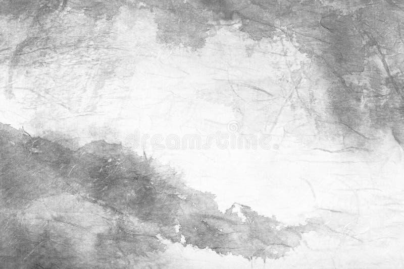 Arte astratta della pittura cinese su documento grigio illustrazione vettoriale