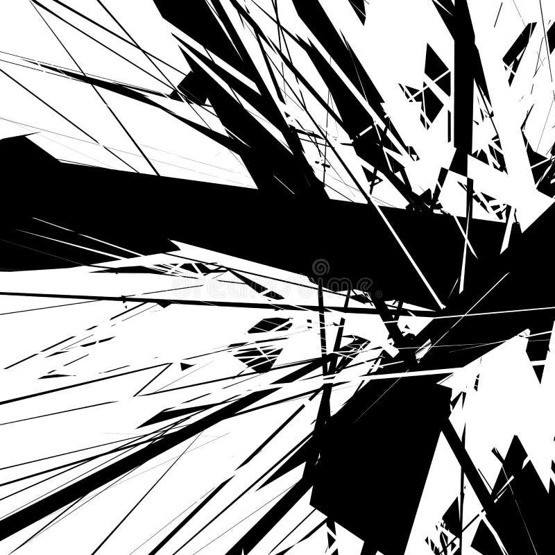 Arte astratta Geometrico astratto artistico, illustrazione Annerisca la a illustrazione di stock