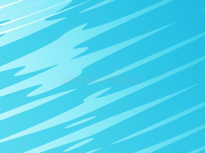 Arte astratta moderna blu-chiaro di frattale Illustrazione luminosa del fondo con effetto casuale dei colpi Modello grafico creat illustrazione vettoriale
