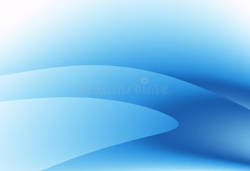 Arte astratta moderna di frattale protetta blu Illustrazione molle del fondo con le forme e le curve Modello grafico professional illustrazione di stock