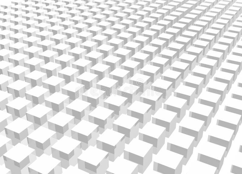 Arte blanco del cubo de la muchedumbre 3d stock de ilustración