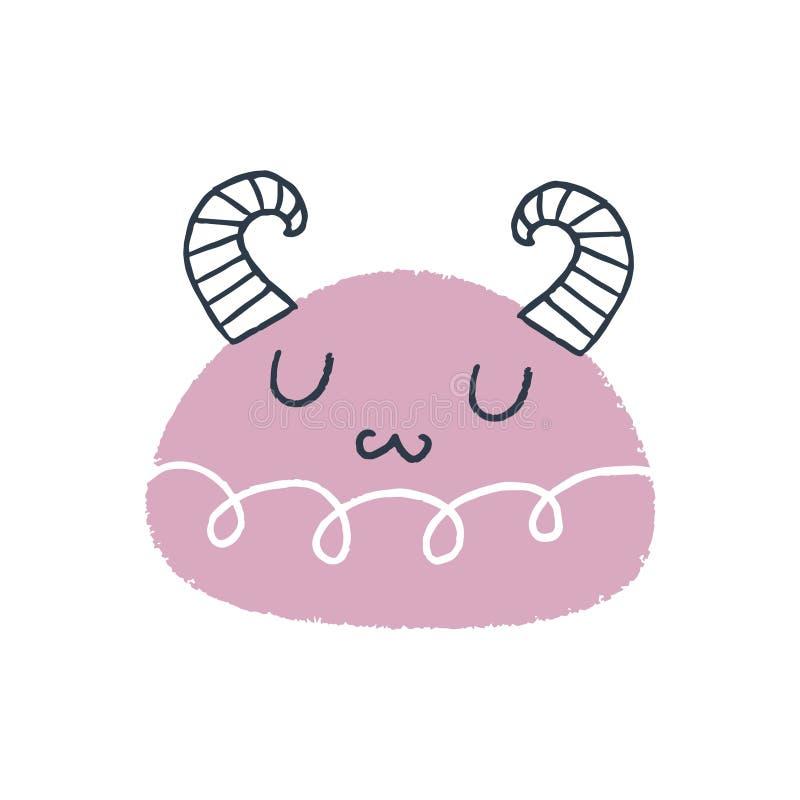 Arte bonito do monstro do bebê do vetor Ilustração do berçário ilustração do vetor