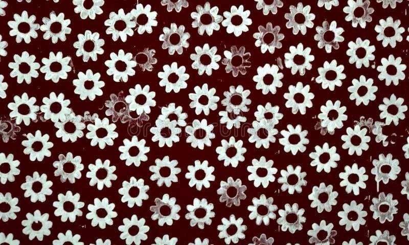 Arte bot?nico de la pared del estilo del vintage de las flores con el fondo texturizado Beige, ramo foto de archivo