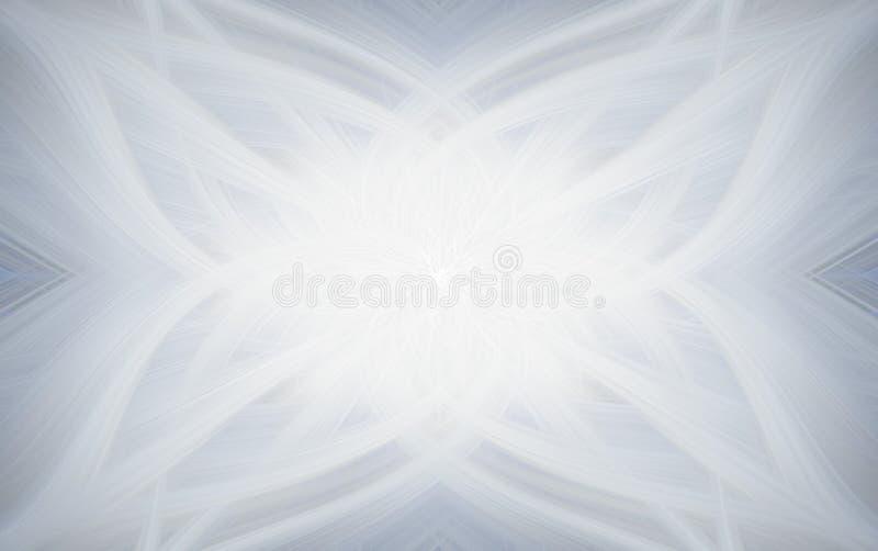 Arte branca clara clara do fundo Ornamento ilustração royalty free