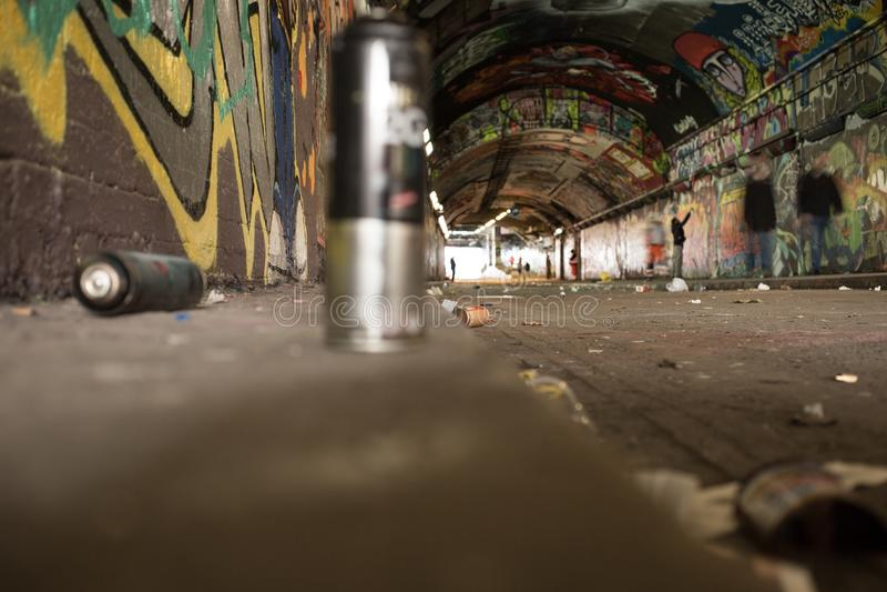 Arte-callejero - Straßen-Kunst stockfoto