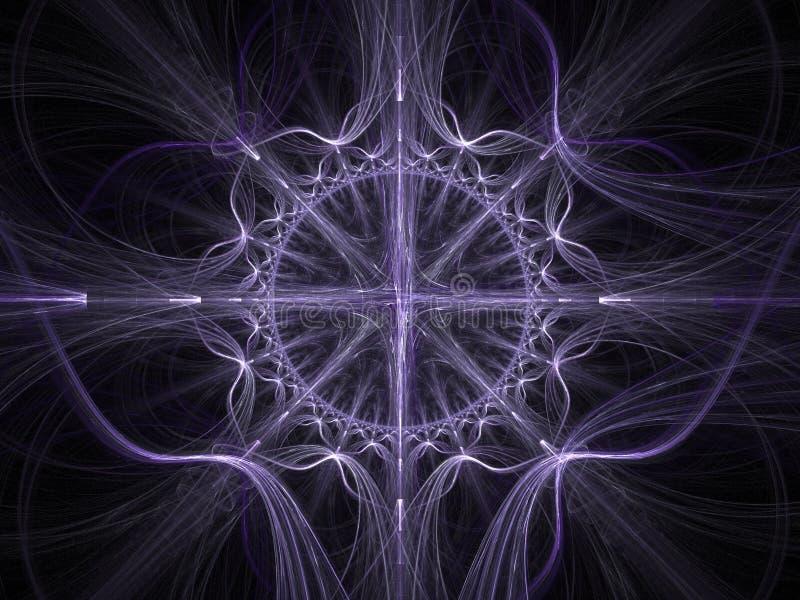 Arte celta - fundo do fractal 3D ilustração do vetor