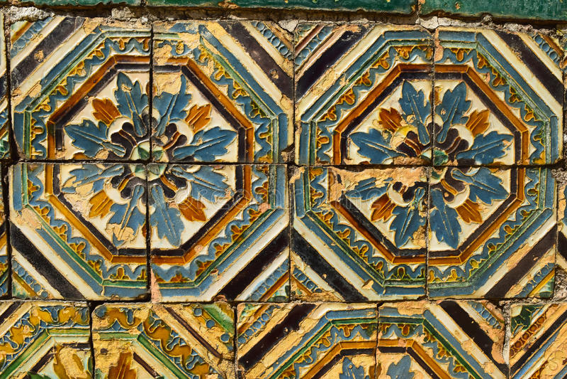 Arte cerâmica com influência árabe foto de stock