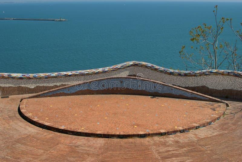 Arte cerâmica da vila da égua do sul de Vietri, pela península de Amalfi imagem de stock royalty free