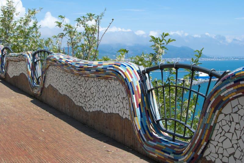 Arte cerâmica da vila da égua do sul de Vietri, pela península de Amalfi foto de stock