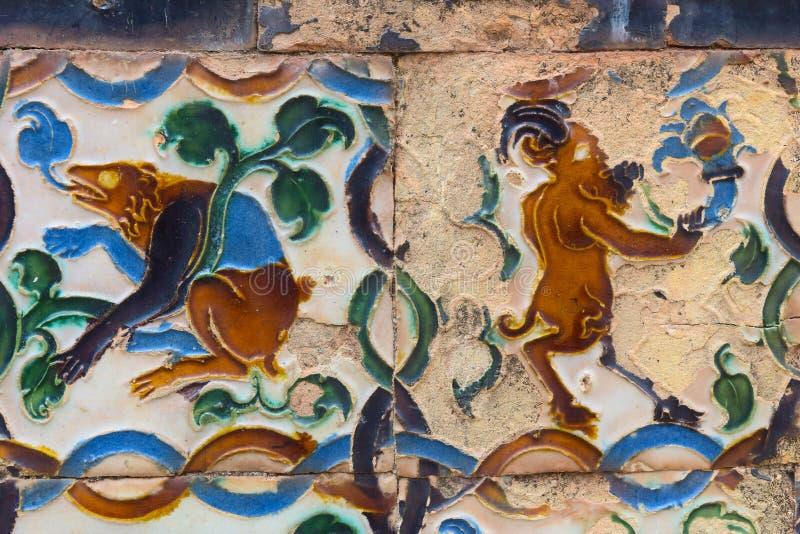 Arte cerâmica no sul da Espanha, com influência árabe imagens de stock royalty free