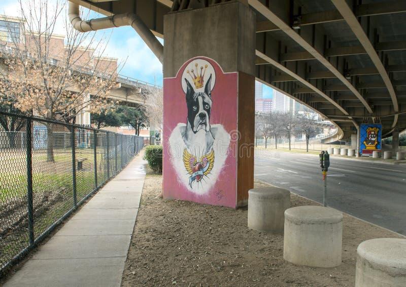 arte Chucho-temático en el parque central, Ellum profundo, Tejas de la corteza fotografía de archivo libre de regalías