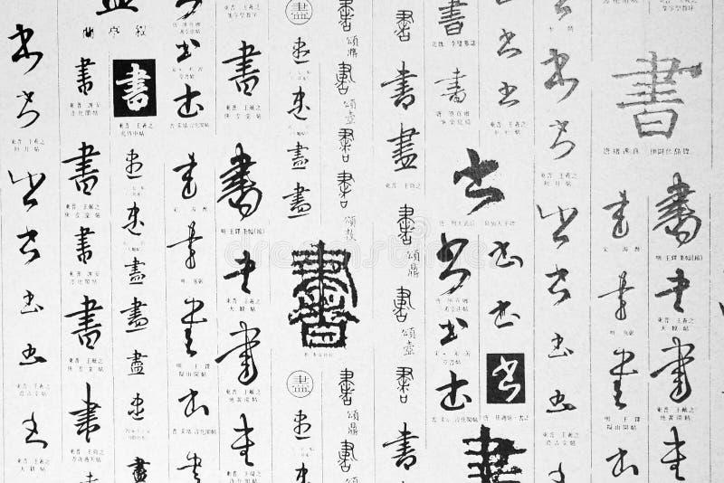 Arte cinese della scrittura illustrazione di stock