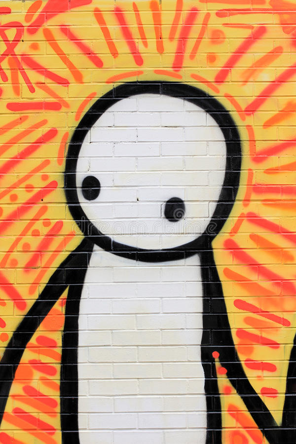 Arte colorido de la calle en NYC fotos de archivo