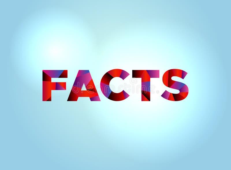 Arte colorido de la palabra del concepto de los hechos libre illustration