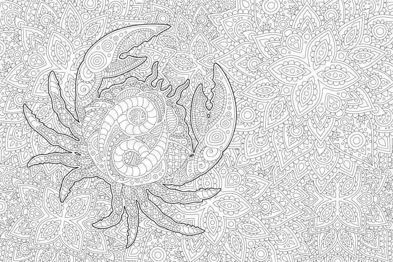 Arte com câncer no fundo linear bonito ilustração royalty free