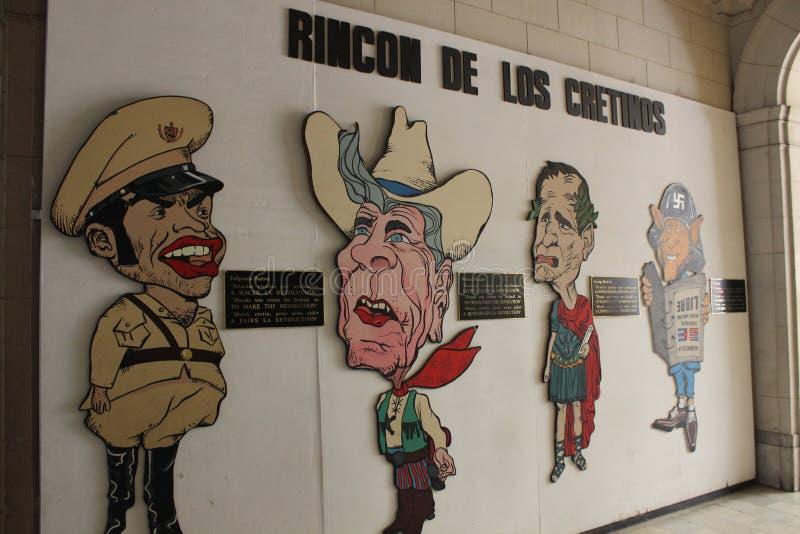 Arte comunista da propaganda em Havana, Cuba fotografia de stock
