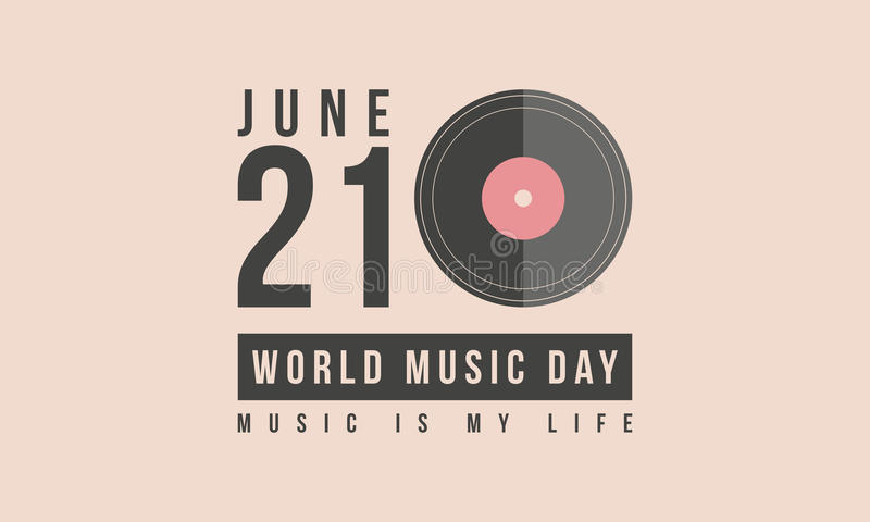 Arte conservada em estoque do vetor do dia da música do mundo da coleção ilustração royalty free