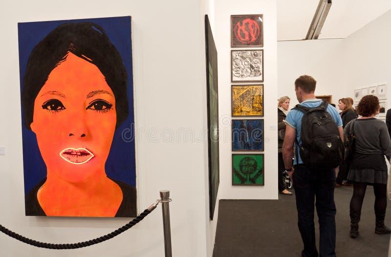 Arte contemporáneo Londres justo del friso. imagenes de archivo