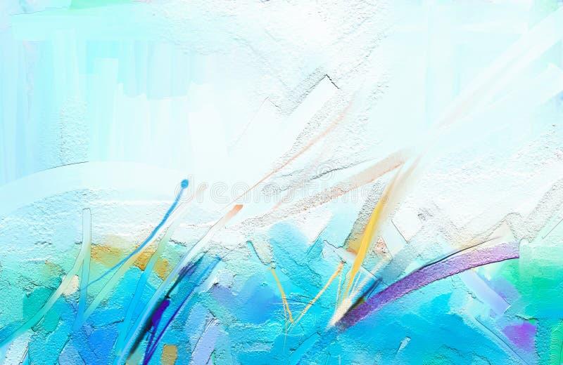 Arte contemporânea abstrata para o fundo Pintura a óleo colorida ilustração stock