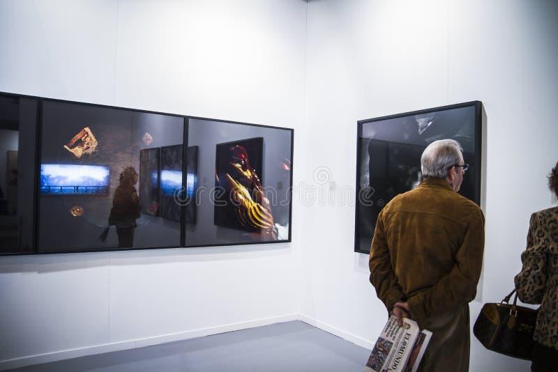 A arte contemporânea ARCO justo começa sua 3á edição com o Finl foto de stock
