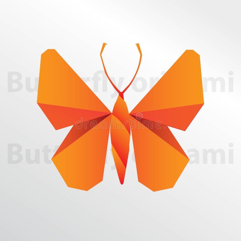 Arte creativo del papel de la mariposa de la papiroflexia libre illustration