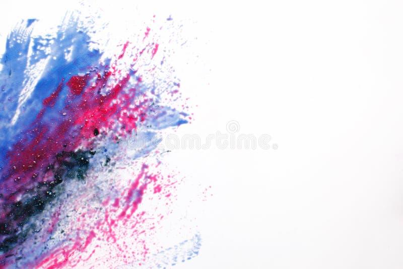 Arte criativa do espaço, galáxia abstrata, cores misturadas imagem de stock royalty free