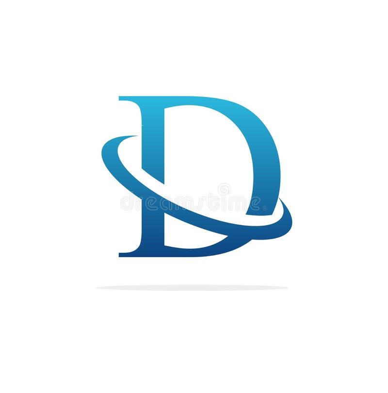 Arte criativa do vetor do projeto do logotipo de D ilustração stock