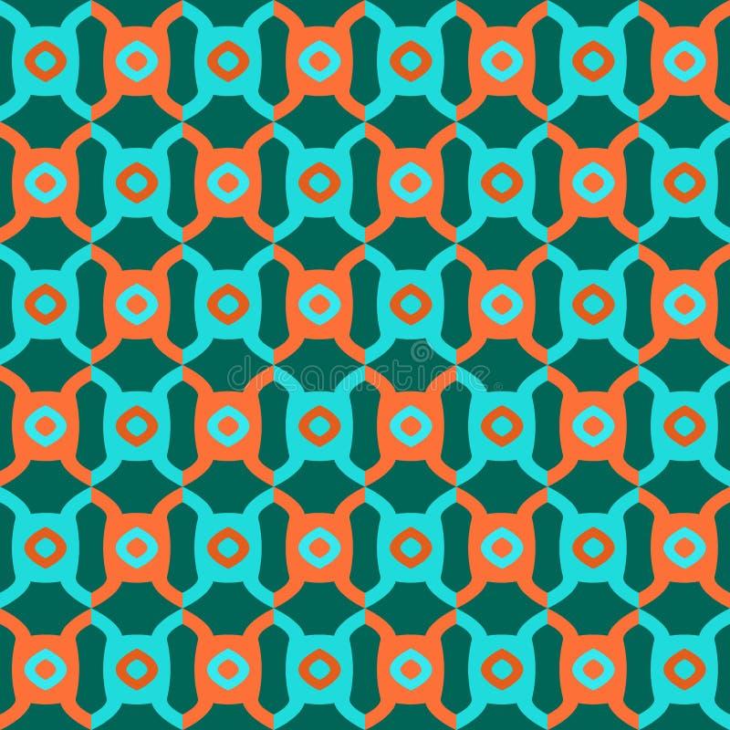 Arte d'annata del modello di vettore di progettazione variopinta astratta geometrica senza cuciture del fondo retro con i cerchi  illustrazione vettoriale
