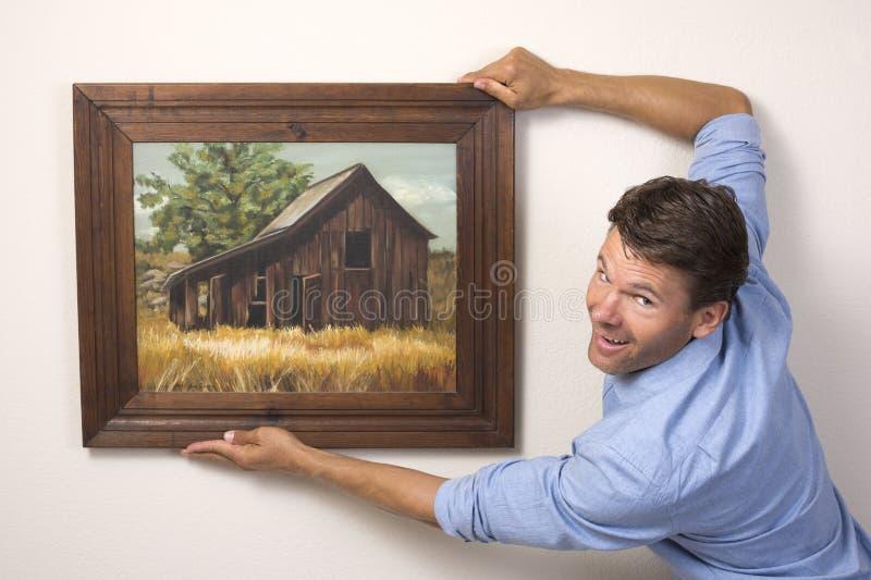Arte d'attaccatura sulla parete immagine stock