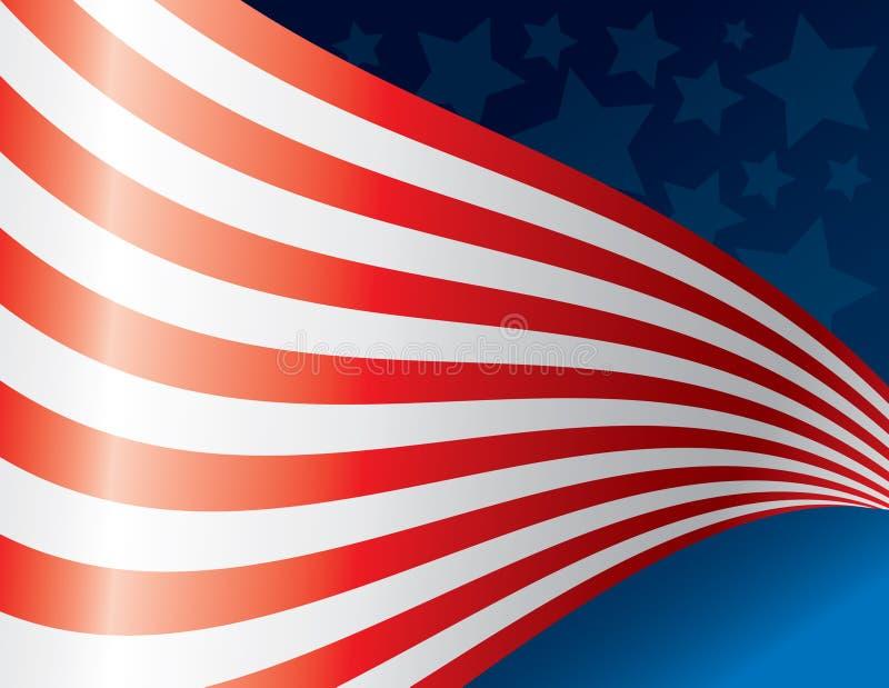 Arte d'ondeggiamento della bandiera americana immagine stock libera da diritti