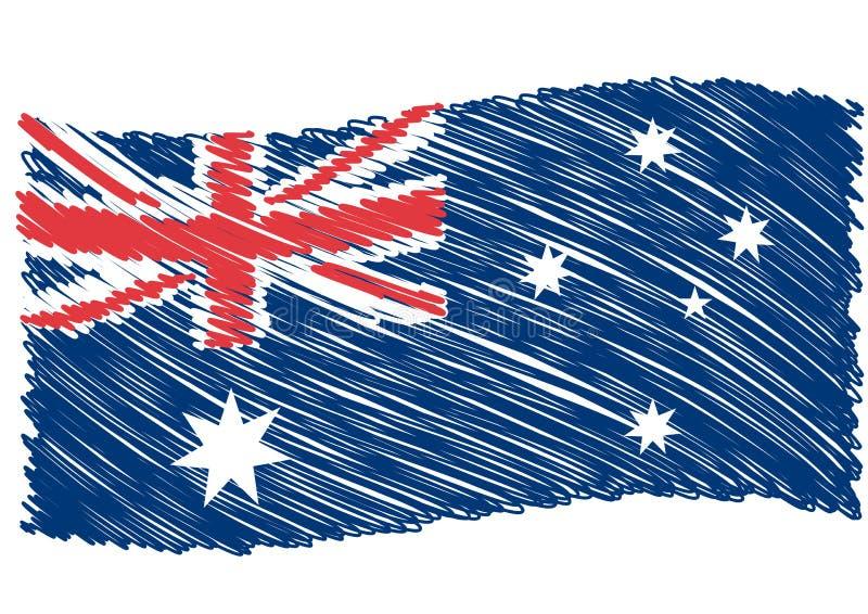 Arte da bandeira de Austrália ilustração do vetor