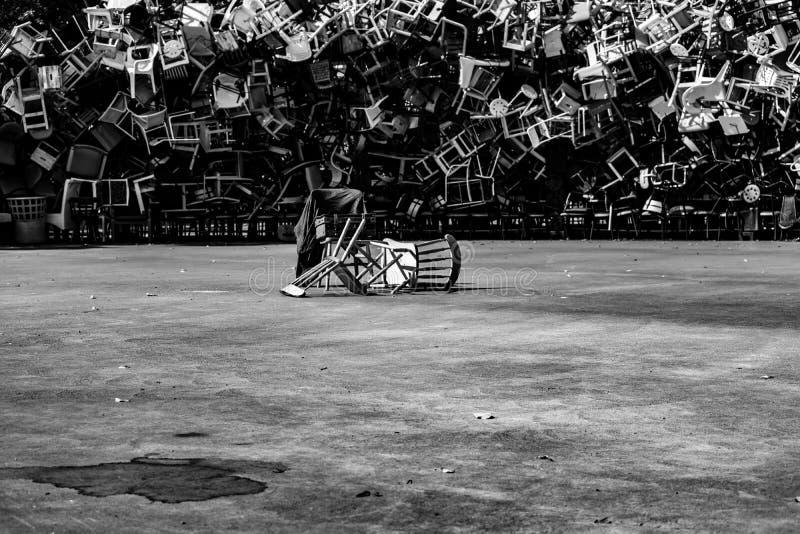 Arte da cadeira fotografia de stock royalty free