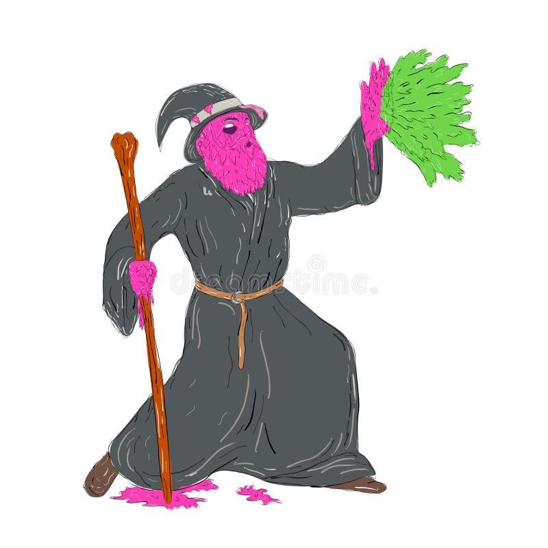 Arte da camada de sujidade do período da carcaça do feiticeiro ilustração royalty free