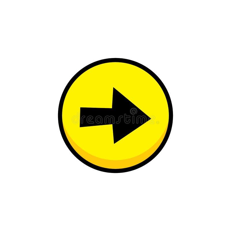 arte da camada do botão do ícone do menu do ativo do jogo de vídeo da seta ilustração do vetor